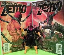 "Marvel Legends Thunderbolts ZEMO +""Born Better"" Comic Series 1-4 + Extra Weapons"