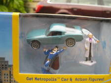 Mint Boxed Matchbox Metropolis Adventure Play Set Superman with unique Mustang