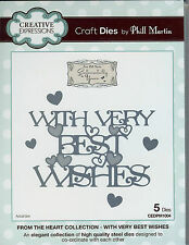 CREATIVE EXPRESSIONS Phill Martin - WITH VERY BEST WISHES Cutting Die CEDPM1004