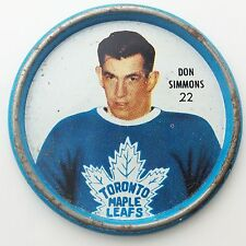 Shirriff Goalie Don Simmons #22 Toronto Maple Leafs NHL Hockey Metal Coin A496