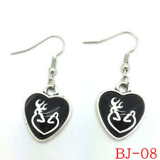 NEW 1pairs Alloy & Glass Browning Deer Antlers Earrings Fashion Jewelry BJ-08~!