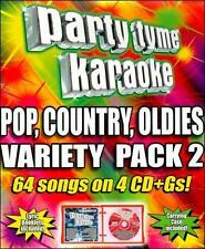 PARTY TYME KARAOKE - (Pop, Country, Oldies Variety Pack 2) 4 CD+Gs! [V45]