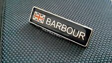 A quality enamel wax jacket barbour union jack pin badge international