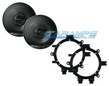 "PIONEER 6.5"" 2 WAY CAR TRUCK STEREO FRONT DOOR SPEAKERS WITH MOUNTING BRACKETS"