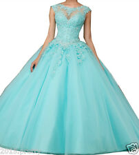 Ball Gown Quinceanera Dress Appliques Lace Formal Sweet 15 16 Prom Party Dress