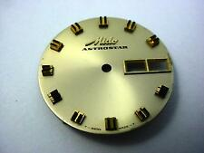 Mido Astrostar Vintage Watch Dial Day Date Windows 29.25mm Gold Double Stick Mrk