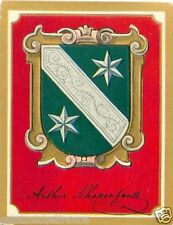 Arthur Schopenhauer Philosopher Germany Armoiries Coat of Arms IMAGE CHROMO 30s