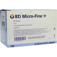BD MICRO-FINE+ 8 Nadeln 100x0,25x8 mm 100St Kanüle PZN 9493085