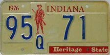 Indiana  License Plate,  Original Kennzeichen USA   95 Q 71 ORIGINALBILD