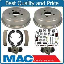 Rear Brake Drum Drums Shoes Spring Kit Wheel Cylinder For 94-97 Toyota Celica