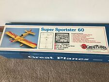 Brand New in Box Great Planes Super Sportster 60 RC Airplane Kit  #SS60 !!!