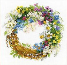 RIOLIS 1536  Wreath with Bird Cherry  Counted Cross Stitch Kit