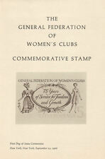 #1316 FD First Day Ceremony Program 5c General Federation of Women's Clubs Stamp