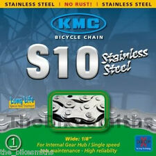 KMC S10 INOX Stainless Steel Bike Chain Dropbuster Single Speed BMX Track Fixed