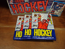 3-Pack LOT 1989 Topps Hockey (3 Wax Packs in MINT Cond) Look for Top NHL Rookies