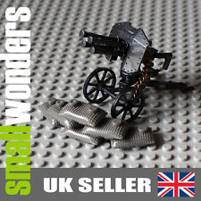 WW2 Anti-Aircraft Gun with Sandbags - Ideal for military minifigs +Free Lego Gun