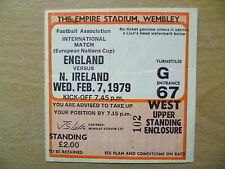 Tickets/ Stubs- 1979 ENGLAND v IRELAND, 7 Feb (European Nations Cup)