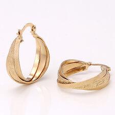 Fashion 14K  Yellow Gold Plated Women's Wedding Jewelry Earrings Gift E520