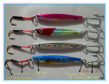 4pcs Lot Seawater Lead Lure Jigs Bait Tackle Fishing Lures 40g Strong VMC Hooks