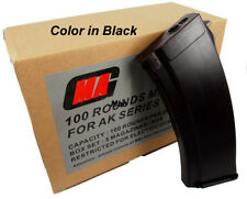 New MAG 100round Magazine for AK-74 Airsoft AEG Plasctic Black (5pcs boxset)