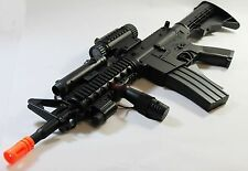 Airsoft Rifle Gun Electric M4 M4A1 AEG Full Auto w/ Flashlight Laser RIS