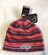 Washington Capitals Knit Beanie Toque Winter Hat Skull Cap NEW Striped Nice