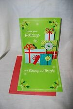 PaperCraft CHRISTMAS POP UP GREETING CARD 3D HOLIDAY CARD PRESENTS TREE