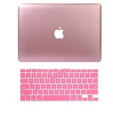 Metallic Hard Case Shell+Keyboard Cover for Macbook Air/Pro/Reitna 11/12/13/15''