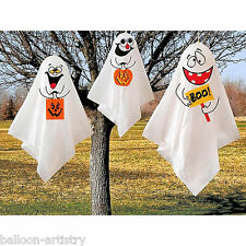 3 Haunted Halloween Hanging Spooks Ghosts Decorations