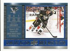 16-17 Sidney Crosby Game Day Action Tim Hortons Canada Insert Card #GDA-10 Mint