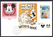1993 Antigua Barbuda Walt Disney Mickey 65th Revue First Day Cover FDC Music FDI