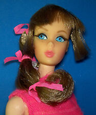 Vintage Talking Barbie Doll #1115 Brunette OSS 1967 Rooted Eyelashes BL Mute