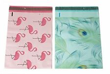 100 10x13 Blue Peacock Pink Flamingo Designer Mailers Poly Shipping Envelopes