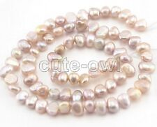 Genuine 4-5mm Natural Purple Freshwater BAROQUE Pearl Loose DIY Beads Strands15""