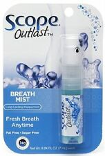 SCOPE Outlast Breath Mist, Long Lasting Peppermint 0.24 oz (Pack of 7)