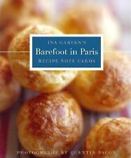 Barefoot in Paris Tri-Fold Recipe Note Cards, Garten, Ina, Good Condition, Book
