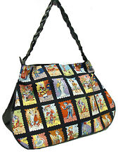 LARGE DOCTOR BAG SATCHEL STYLE WITH LOTERIA CARTAS  PATTERN , COTTON,NEW
