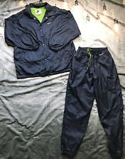 VTG 80/90s NIKE WINDBREAKER TRACK SUIT Jacket/Pants Set NYLON Mesh Mens SZ M