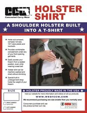 CONCEALED CARRY HOLSTER SHIRT with a built-in holster Sizes S-5XL Black or White