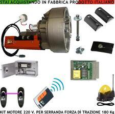 Saracinesca Kit Automatismo Serranda 180 Kg 20 mt² Motore 220 V Rad Centr Fot Lp