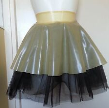 Latex fetish TUTU Circle skating SKIRT Gummi Rubber Lilac Black XS, S, M, L, XL