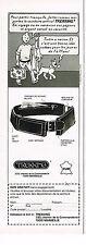PUBLICITE ADVERTISING 064  1980  TREKKING   ceintures  TINTIN & MILOU