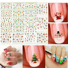 Fashion 12 Sheet Christmas 3D Nail Art Stickers Snowflakes & Snowmen Nail Decals