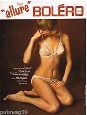 Publicité Advertising 1970 Lingerie sous vetement soutien gorge Boléro