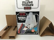 replacement Vintage star wars kenner imperial shuttle box and inserts