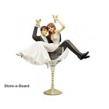 Wedding Cake Topper Champagne Glass Bride & Groom Mr & Mrs Table Reception Party