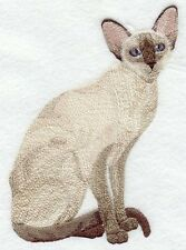 Embroidered Long-Sleeved T-Shirt - Siamese Cat C7925