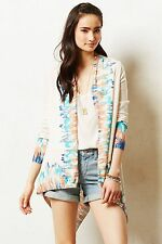 NWT ANTHROPOLOGIE by GUINEVERE SAPPHIRE FLAME CARDIGAN S