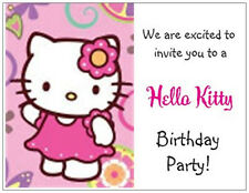 20 HELLO KITTY Birthday Party Post CARDS Invitations