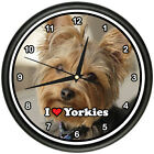 YORKIE Wall Clock dog yorkshire terrier owner gift